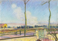 le gare de marchandises by alfred sisley