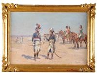 bonaparte et kléber pendant la campagne d'égypte by emile chepfer