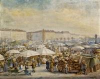 der wiener naschmarkt by carl massmann