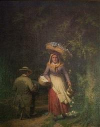 la femme au panier et le peintre by françois verheyden