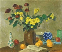 nature morte au bouquet by william goodridge roberts