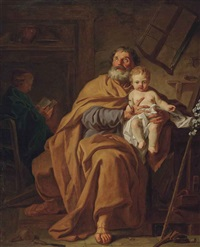 saint joseph and the christ child by pierre hubert subleyras