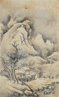 winter landscape by sim sa-jong