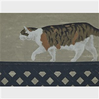 cat on the fence by david alexander colville