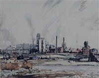 imperial oil refinery by bernard middleton
