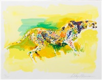 cheetah (from the safari suite) by leroy neiman