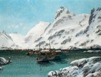 hafen im winter (von den lofoten) by sigvald simensen