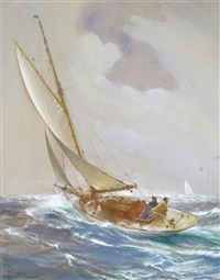 a refreshing breeze by montague dawson