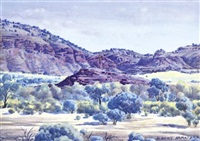 tent hill gully by albert namatjira