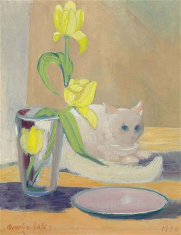the white cat by george benjamin luks