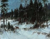 fuchs im winterwald by alexander steinbrecht