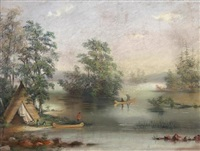 lake george by alfred worsley holdstock