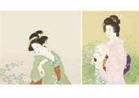 early autumn (set of 2) by shoen uemura