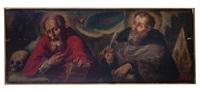 los padres de la iglesia: san jerónimo y san ambrosio by baltasar de echave ibia
