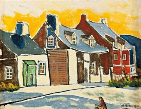rue de village by marc aurèle fortin