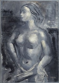 nudo femminile by mario sironi