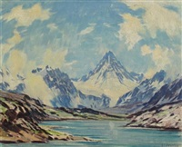 mt. assiniboine by alfred crocker leighton