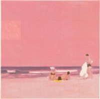 three bathers (pink) by isca greenfield-sanders