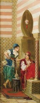 l'attente, algérie; conversation (pair) by jan baptist huysmans