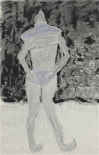 bikini bather's back by milton avery