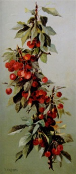 a bough of cherries by thomas addison richards