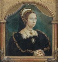 portrait de femme aux mains croisées by hans holbein the elder