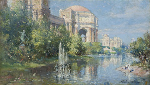 palace of fine arts and reflecting pool panama pacific international exposition san francisco by colin campbell cooper