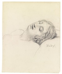 study of the head of a sleeping woman by jacques-louis david