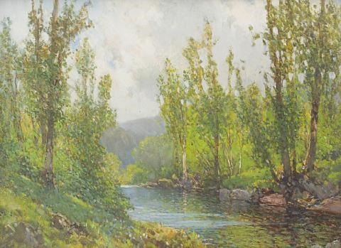 on the river near okehampton by frederick john widgery