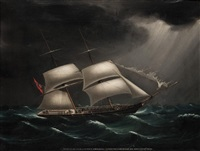 the brig alligator, commanded by s.j. sinden, passing the lamock islands off the east coast of china by anglo-chinese school (19)