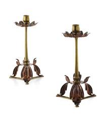 candlesticks (pair) by william arthur smith benson