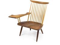 single arm lounge chair by mira nakashima-yarnall