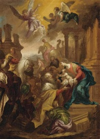 adoration of the magi by bartolomeo biscaino