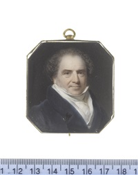 sir edward banks (1770-1835), wearing blue coat, white chemise, stock and cravat by william jnr. patten