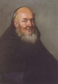 portrait of a capuchin monk by joseph vivien