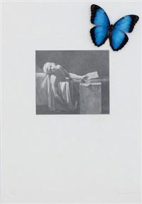 ohne titel (der tod des marat) by jannis kounellis