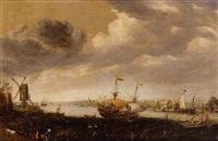 veduta del porto di vlissingen by cornelis claesz van wieringen