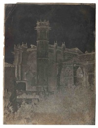 ancienne cathédrale saint-nazaire, carcassonne by gustave le gray and auguste mestral