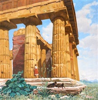 femme et ruines à l antique by joseph-marius avy