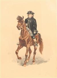 the reverend samuel seabury, m.a. on horseback by charles henry miller