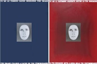 tu sei il testimone nascosto dietro la tua immagine (2 works) by vincenzo agnetti