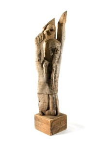man with raised arms (goal keeper) by jackson mbhazima hlungwane