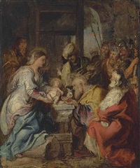 the adoration of the magi by sir peter paul rubens