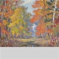 autumn in belleville by manly edward macdonald
