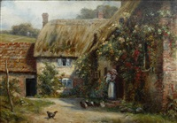 winterbourne stickland, dorset by frank moss bennett