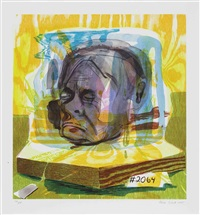 untitled (head of timothy leary) by dana schutz