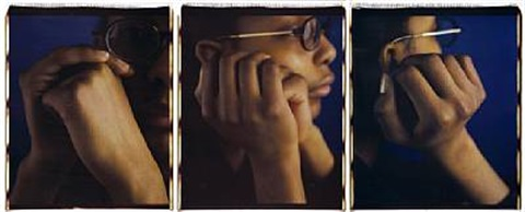 monique ii triptych by dawoud bey
