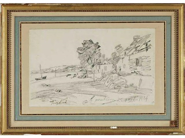le poudreux environs dhonfleur by johan barthold jongkind