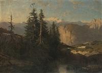 laghetto di montagna by alexandre calame