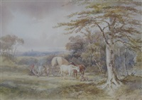 a travellers' encampment by henry earp